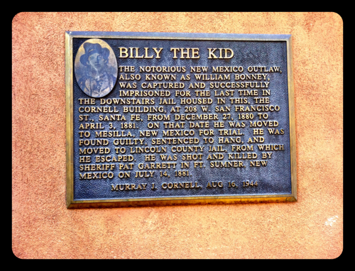 Billy the Kid Plaque